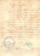 ATTESTATION MAIRIE DE VALMY  ECRITE ET SIGNEE  DU MAIRE GEORGES CHARTRONGNE - 1914-18