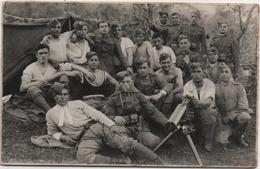 Fotografia Cm. 9 X 14 Con Gruppo Di Soldati - Guerra, Militari