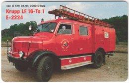 GERMANY O-Serie B-287 - 519 04.94 - Rescue, Fire Engine - MINT - O-Series: Kundenserie Vom Sammlerservice Ausgeschlossen