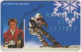 GERMANY O-Serie B-290 - 508B 04.94 - Sport, Skiing - MINT - Deutschland