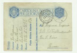 CARTOLINA POSTALE F.ARMATE POSTA MILITARE ALBANIA 1939 FG - Weltkrieg 1939-45