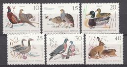 Allemagne DDR 1968  Mi.nr.: 1357-1362 Niederwild  Neuf Sans Charniere /MNH / Postfris - Neufs