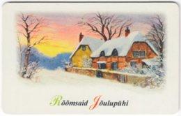 ESTONIA A-255 Chip EestiTelefon - Painting, Landscape, Winter - Used - Estland
