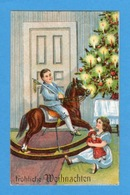 Natale Noel Weihnachten Christmas Enfant Cheval à Bascule - Non Classificati