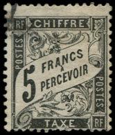 FRANCE Taxe O - 24, Signé Scheller, 2nd Choix: 5f. Noir - Cote: 2000 - 1859-1955 Gebraucht
