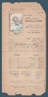 Egypt - 1918 - Rare - Vintage Document - ( Counterfoil Of Passport - Egypt ) - 1915-1921 Protectorado Británico