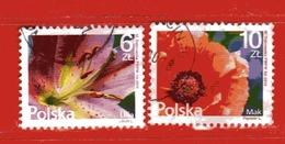 POLONIA POLSKA °- 2016 - FLORA - FLOWER- Usato - Used Stamps