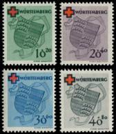 ALL. ZONE FRANCAISE WURTEMBERG Poste ** - 38/41, Croix-Rouge - Cote: 200 - Französische Zone