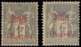 CAVALLE Poste * - 8/8a, Signés, Surcharge Rouge Et Carmin - Cote: 220 - Cavalle (1893-1911)