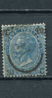 ITALY / ITALIEN / ITALIE 1865 -  King Victor Emmanuel II With Overprint. Fine Used, Good Condition - 1861-78 Vittorio Emanuele II