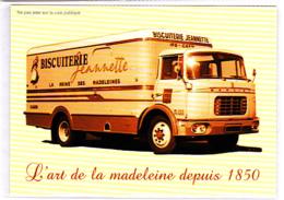 Camion Berliet, Publicité Biscuiterie Jeannette, Reine Des Madeleines, Ifs - Caen, Calvados, 14 - Camions & Poids Lourds