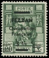 FEZZAN Poste * - 5, 3f. S. 20c. Vert - Cote: 120 - Fezzan (1943-1951)