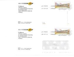 Les 2 Env. Phil@poste Avec Et Sans Fenêtre - Lyon - Lots N° B2J/08A644 Et 645 - Entiers Postaux