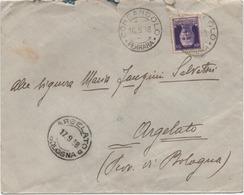Imperiale 50 Cent. Su Busta Con Annullo Consandolo (Argenta, Ferrara) 16.09.1938 Per Argelato (Bologna) - 1900-44 Victor Emmanuel III