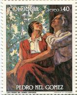 Lote 1668, Colombia, 1985, Sello, Stamp, Pedro Nel Gomez, 40 P, Paint, Woman - Colombia
