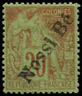 NOSSI-BE Poste * - 25, Signé: 20c. Briques. S. Vert - Cote: 650 - Nossi-Bé (1889-1901)