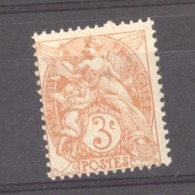 France  :  Yv  109  **   Type IB - 1900-29 Blanc