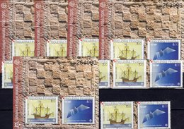 5x ZD/Blocks 2005 Kroatien 734/5+Block 27 ** 400€ 50 Years CEPT Blocs History Ships S/s Philatelic Sheets Bf EUROPA - Hojas Y Bloques