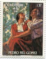 Lote 1667, Colombia, 1985, Sello, Stamp, Pedro Nel Gomez,370 P, Paint, Woman - Colombia