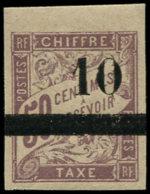 SENEGAL Taxe ** - 1, 10 S. 50c. Lilas (Maury) - Cote: 275 - Senegal (1887-1944)
