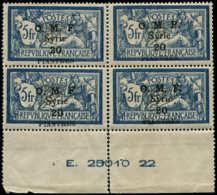 SYRIE Poste ** - 29, Bloc De 4 Se Détache, Bord De Feuille Avec Numéros: 20p. S. 5f. Merson (Maury) - Cote: 640 - Syria (1919-1945)