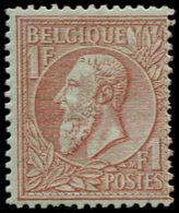 BELGIQUE Poste * - 51, Centrage Courant: 1f. Rouge Et Brun S. Vert - Cote: 1100 - Belgium