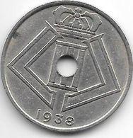 Belguim Leopold III 25 Centimes 1938 French  Xf - 1934-1945: Leopoldo III