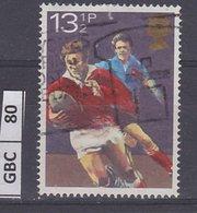 GRANBRETAGNA     1980Centenari Dello Sport  13,5 Usato - 1952-.... (Elisabetta II)