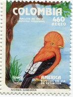 Lote 1926, Colombia,1993, Sello, Stamp, Upaep, Ave, Gallito De Oro, Bird - Colombia