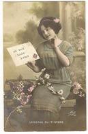 S7699 - Jeune Dame - Langage Du Timbre - Cartes Postales