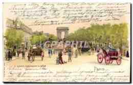 CPA Paris Avenue Des Champs Elyses Automobile - Champs-Elysées