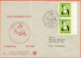 GERMANIA - GERMANY - Deutschland - ALLEMAGNE - 1982 - 2 X 150. Geburtstag Wilhelm Busch - FDC - Bonn - FDC: Buste