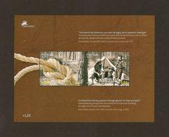 """AZORES/ AÇORES/ AZOREN - TEMA EUROPA  2007-"""" A CENTENARY SCOUT -EUROPA-CEPT""""- HOJITA BLOQUE - 2007"""