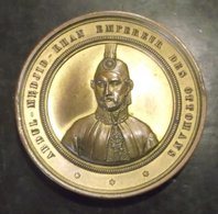 Ottoman Sinope Medal 1853 Gilt Bronze By L.Hart RARE. - Tokens & Medals