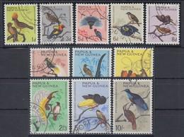 Papua Neu Guinea 1964/65 Freimarken: Einheimische Vögel Satz Mi.-Nr. 62-72 O  - Papua-Neuguinea