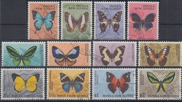 Papua Neu Guinea 1966 Freimarken: Schmetterling Satz Mi.-Nr. 83-94 O  - Papua-Neuguinea