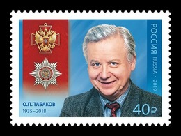 Russia 2019 Mih. 2755 Cinema. Actor Oleg Tabakov MNH ** - Unused Stamps