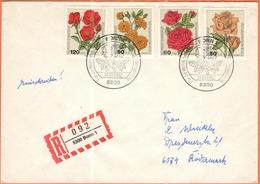 GERMANIA - GERMANY - Deutschland - ALLEMAGNE - 1982 - Für Die Wohlfahrtspflege, Rosen - FDC - Bonn - Einschreiben - Regi - FDC: Buste