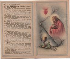 Santino Ricordo Della Comunione Pasquale 1946 Nella Parrocchia Di Migliarino (Ferrara) - Devotion Images
