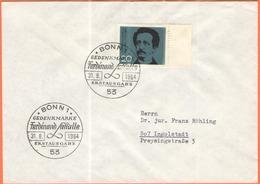 GERMANIA - GERMANY - Deutschland - ALLEMAGNE - 1964 - 100. Todestag Ferdinand Lassalle - FDC - Bonn - FDC: Buste