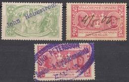 SVERIGE - 1906 - Valgorenhetsmarke Svenskanational Foreninuen Mot Tuberkulos - Lotto Composto Da 3 Valori Usati - Suède