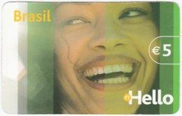 PORTUGAL B-112 Prepaid Hello - People, Woman, Brazil - Used - Portugal