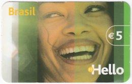 PORTUGAL B-113 Prepaid Hello - People, Woman, Brazil - Used - Portugal
