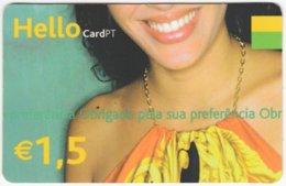 PORTUGAL B-116 Prepaid Hello - People, Woman - Used - Portugal