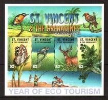 St. Vincent. [sav_fn01] Fauna (s/s) - Briefmarken