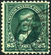 US #278 Used $5 Marshall Of 1895 - Used Stamps