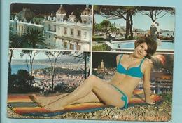CPM Au Soleil De La Côte D' Azur N° 306 Principauté De Monaco Timbre Et Flamme Monaco Pin Up Vintage 1972 - Panoramic Views