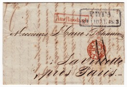 Riga 1853 Lettonie Julius Sturtz AUS RUSSLAND PRUSSE 3 VALENCIENNES 3 Papier Peint Latvija Латвия La Villette - Lettonia