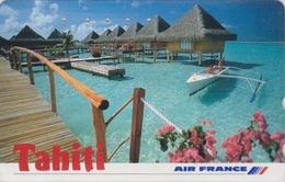 Télécarte Japon / 110-011 - AVIATION - AIR FRANCE TAHITI / PF POLYNESIE French Polynesia - Japan AIRLINES Phonecard - 35 - Avions