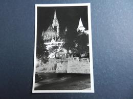 19977) BUDAPEST HALASZBASTYA NOTTURNO NON VIAGGIATA - Ungheria